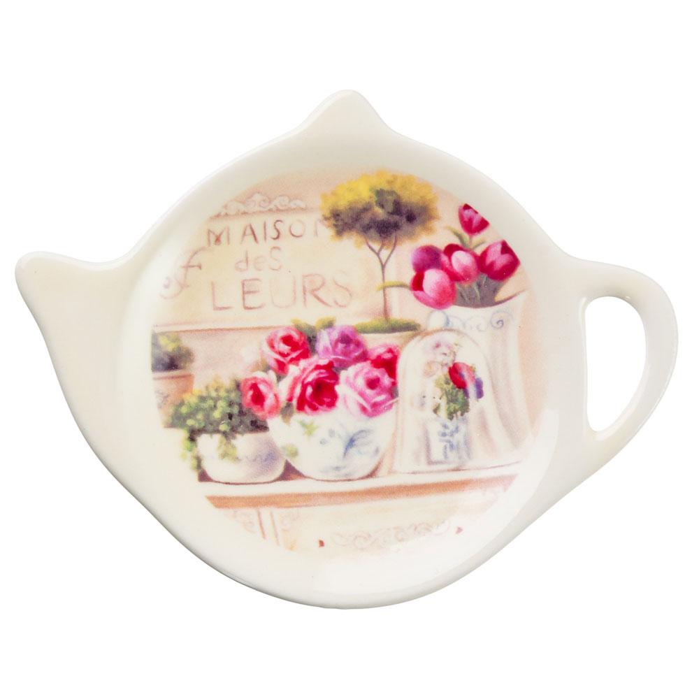 Цветочный буфет Подставка для чайных пакетиков 12х8,4х1,5см, керамика
