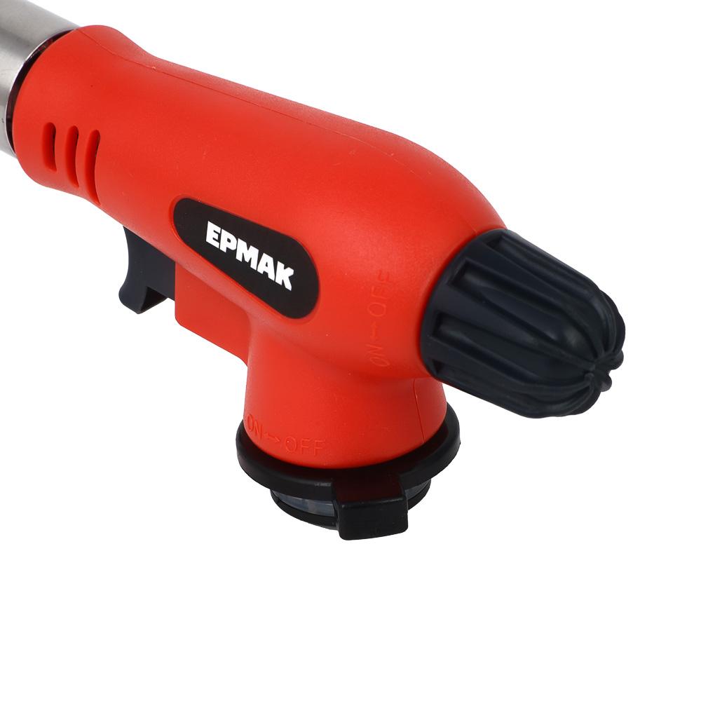 Горелка газовая ЧИНГИСХАН с пьезорозжигом, широкое cопло; 16,5х6х4см