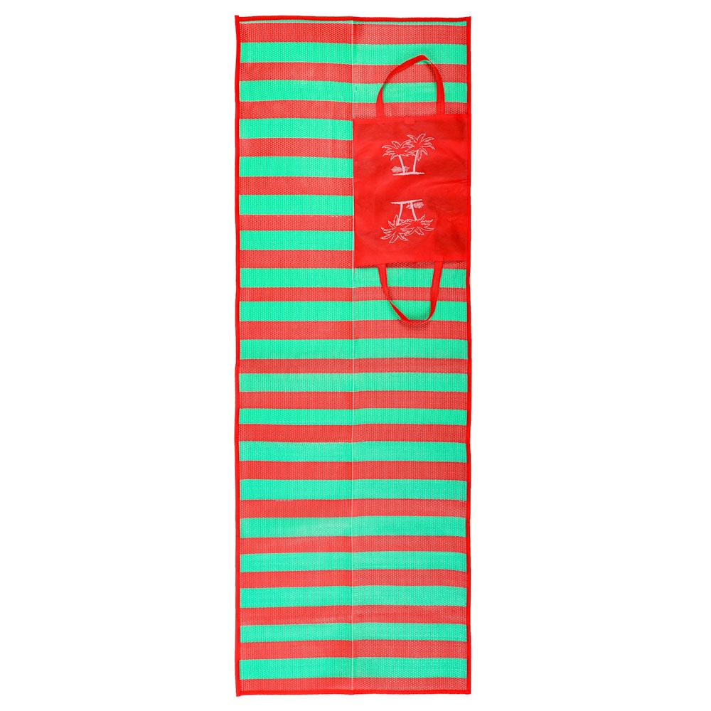 Коврик пляжный с ручками для переноски, PP, 60х170см