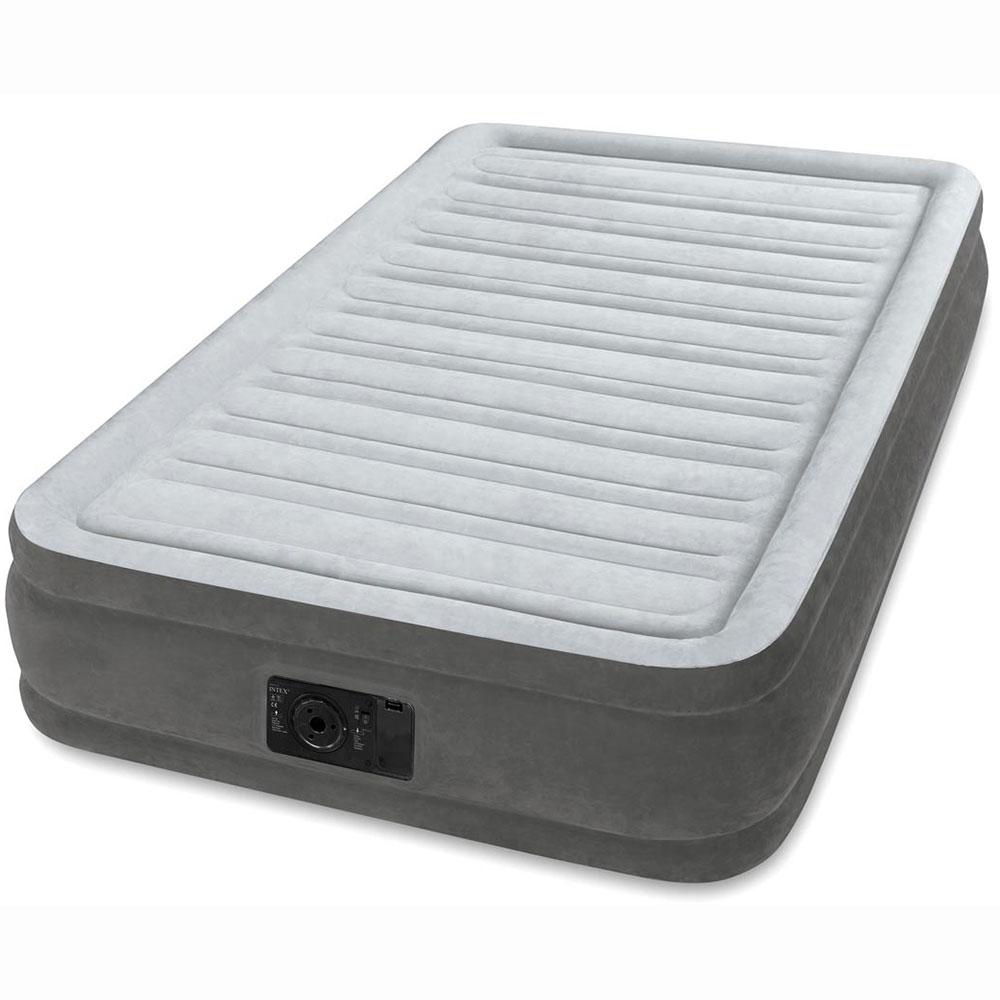 INTEX Кровать флок Твин, 99х191х33см, 220В, встроенный насос, 67766