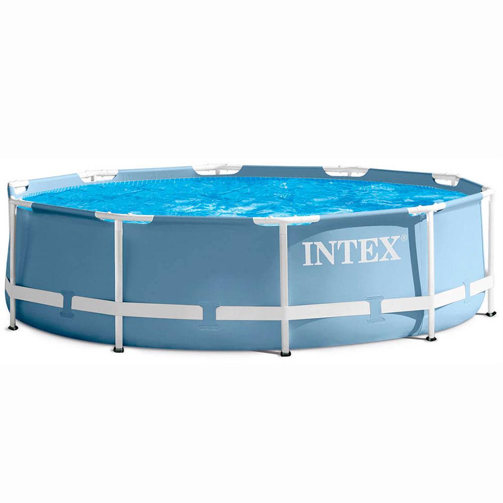 INTEX Бассейн каркасный Призм, 457х107см, с фильтр-насосом,лестницей,покрыв,чехлом,dvd), 28734