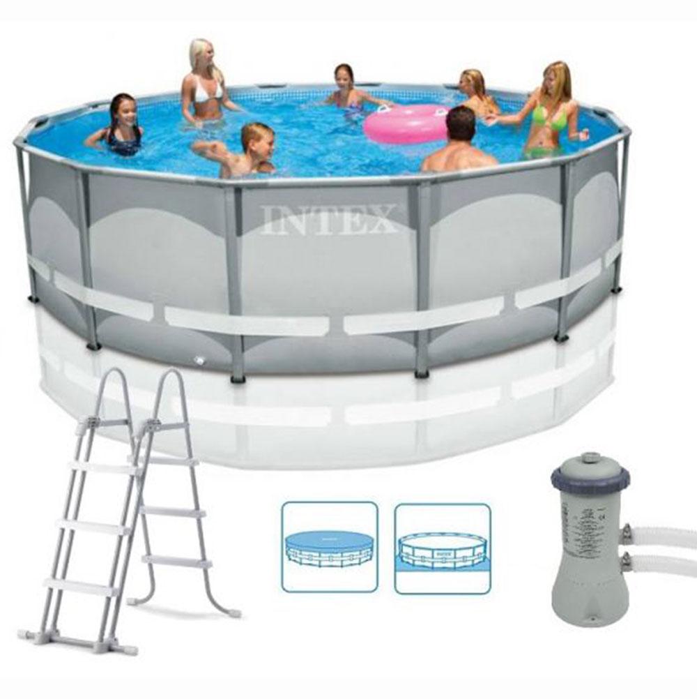 INTEX Набор для бассейна Ультра фрейм, 427х107см, от 6 лет, 28310