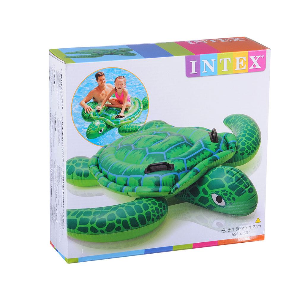 Надувной плотик INTEX 57524 Маленькая морская черепашка 150х127см от 3 лет