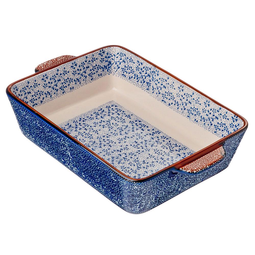 Форма для запекания и сервировки прямоугольная с ручками, керамика, 27,5х17,5х5,5 см, MILLIMI