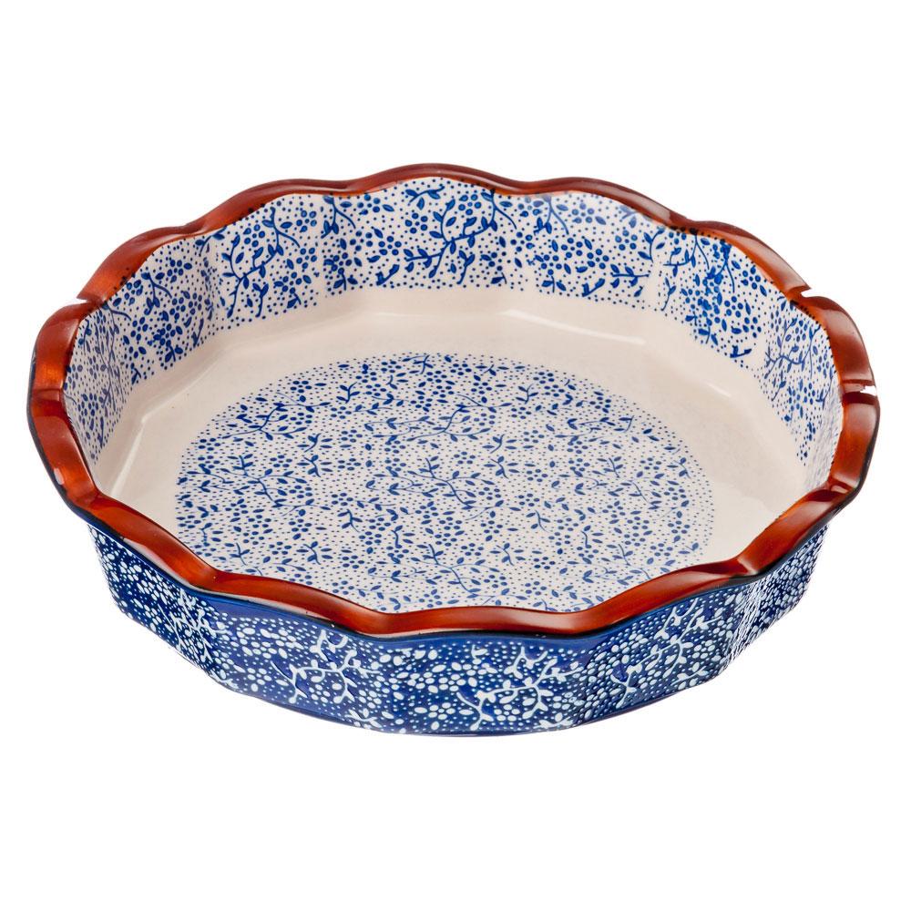Форма для запекания и сервировки круглая, керамика, 22х22х4,5 см, MILLIMI