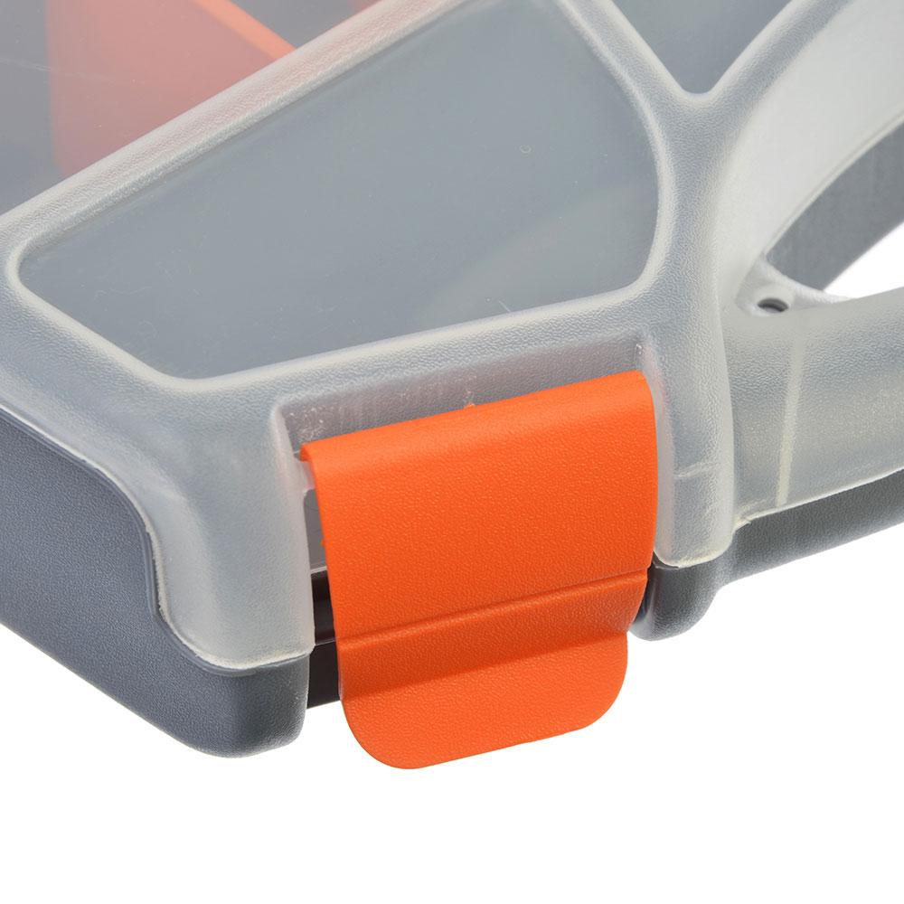 ЕРМАК Органайзер Profi 32см серо-свинцовый/ оранжевый