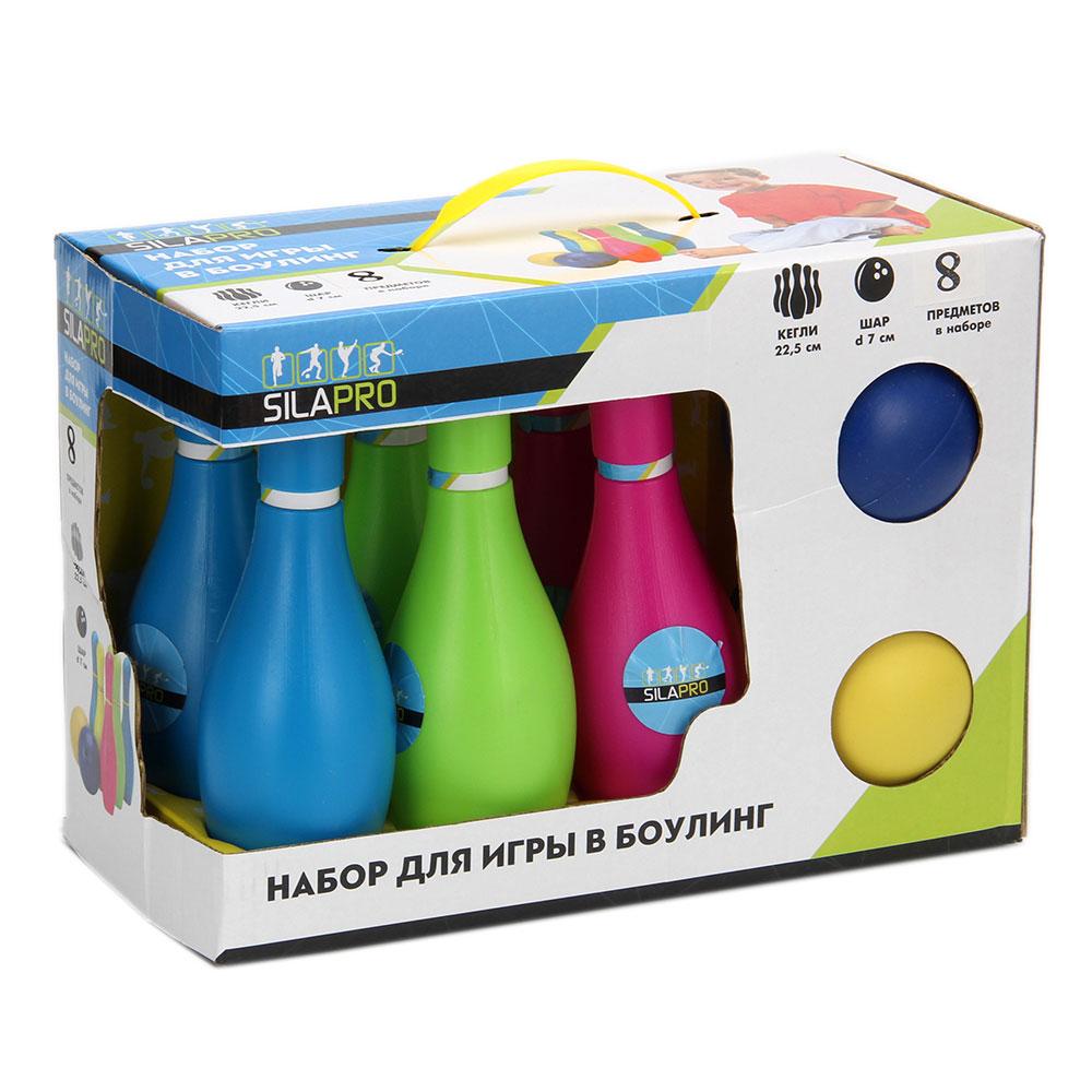 Набор для игры в боулинг 12 пр (кегли 22,5см, шар d7см), пластик