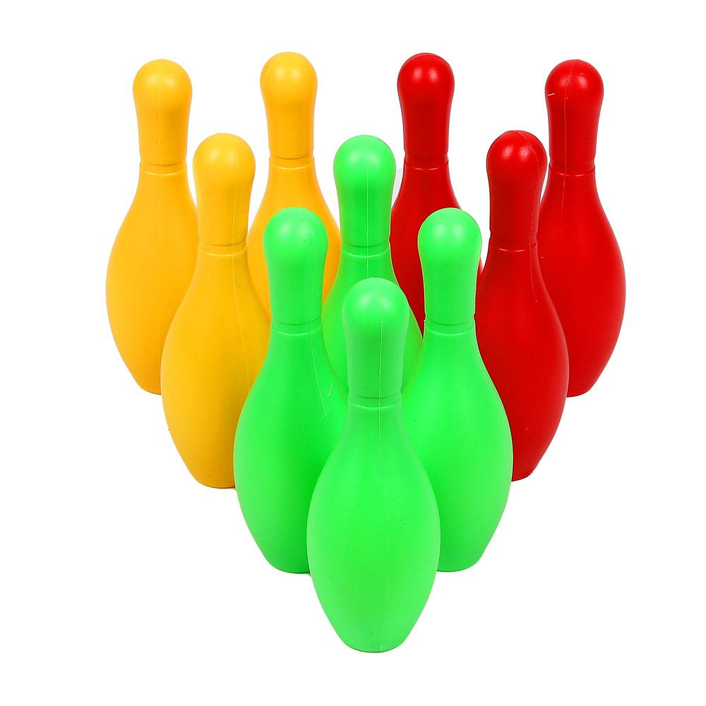 Набор для игры в боулинг,12 предметов, кегли 16,5 см, шар d 5 см, пластик, SILAPRO
