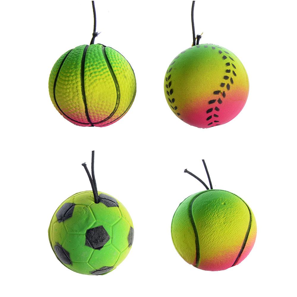 Мяч с резиночкой, d 3,8 см, ПВХ