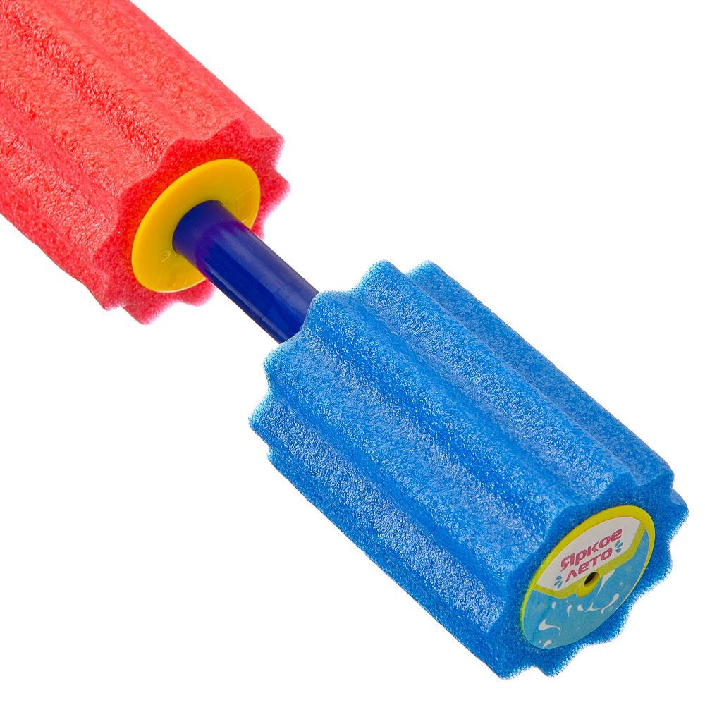 Пушка помповая фигурная водяная, пластик, 40x5см, 4 цвета