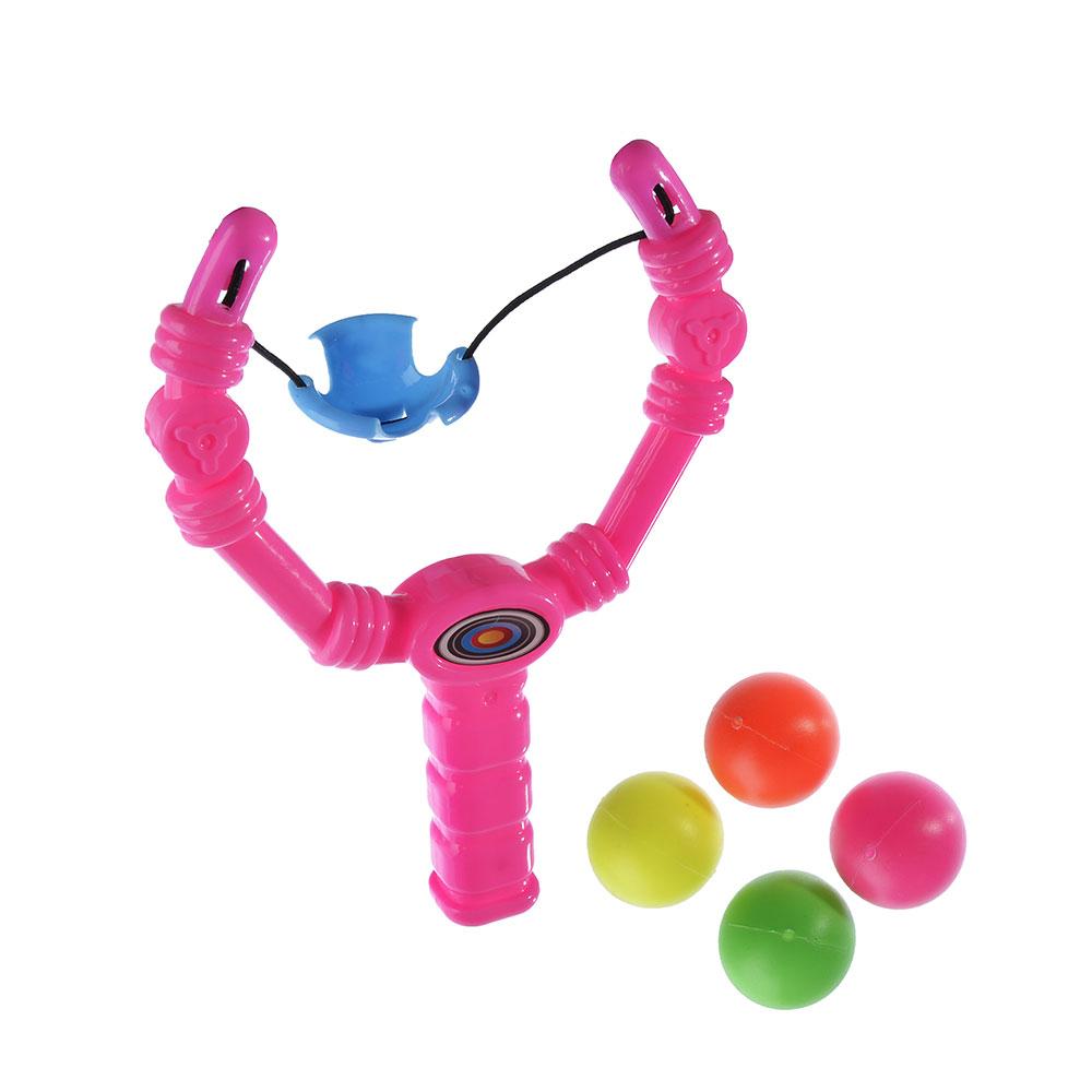 Набор игровой рогатка + 4 мяча, 18х13см, пластик, полиэстер