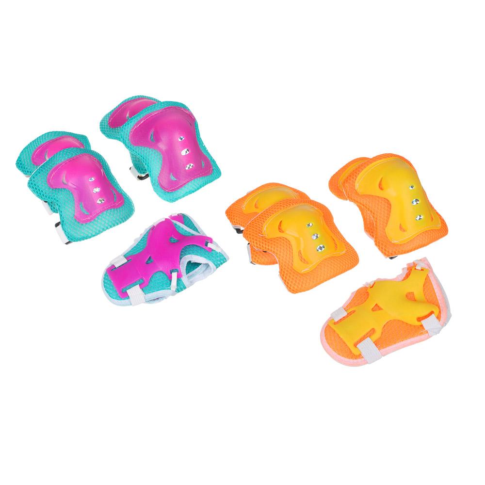 Набор для защиты: колени, локти, запястья, однотонный, размер S, пластик, SILAPRO