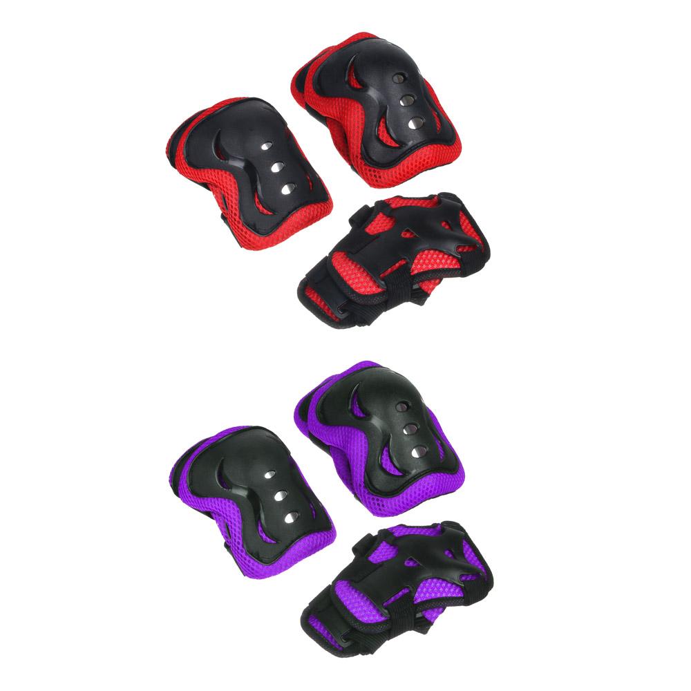 Набор для защиты: колени, локти, запястья, однотонный, размер L, пластик, SILAPRO