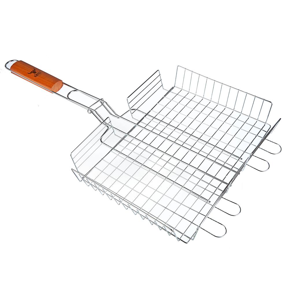 Решётка-гриль хромированная 59х(31x24x6) см, GRILLBOOM