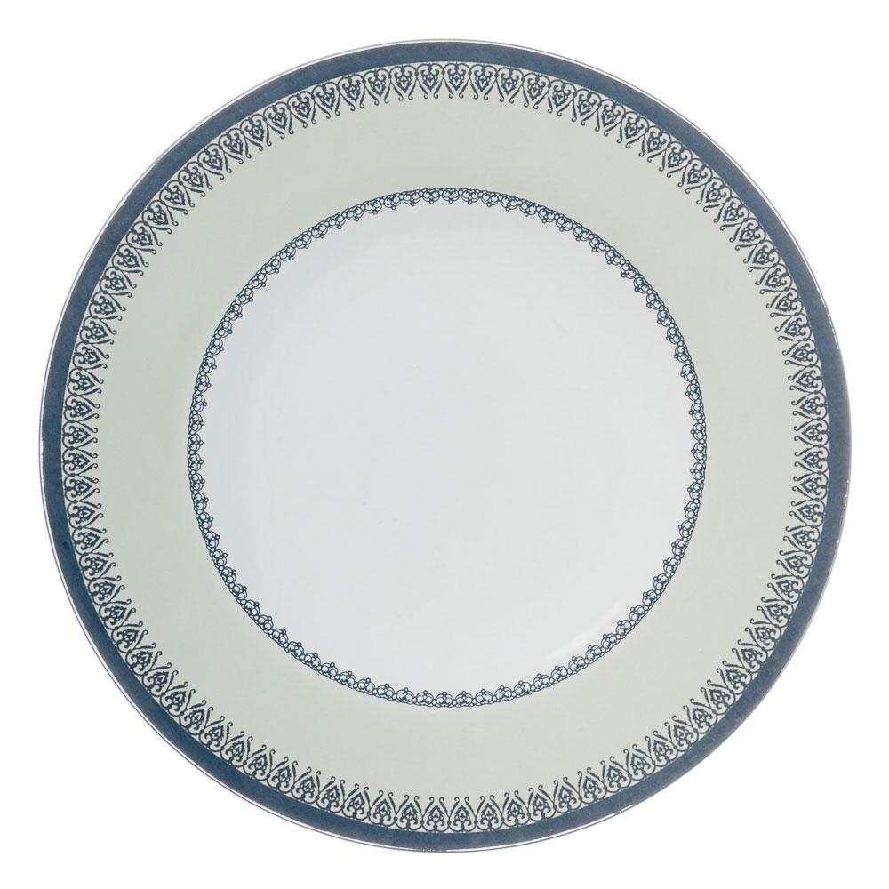 VETTA Синий орнамент Тарелка десертная стекло 200мм, S3008-R107