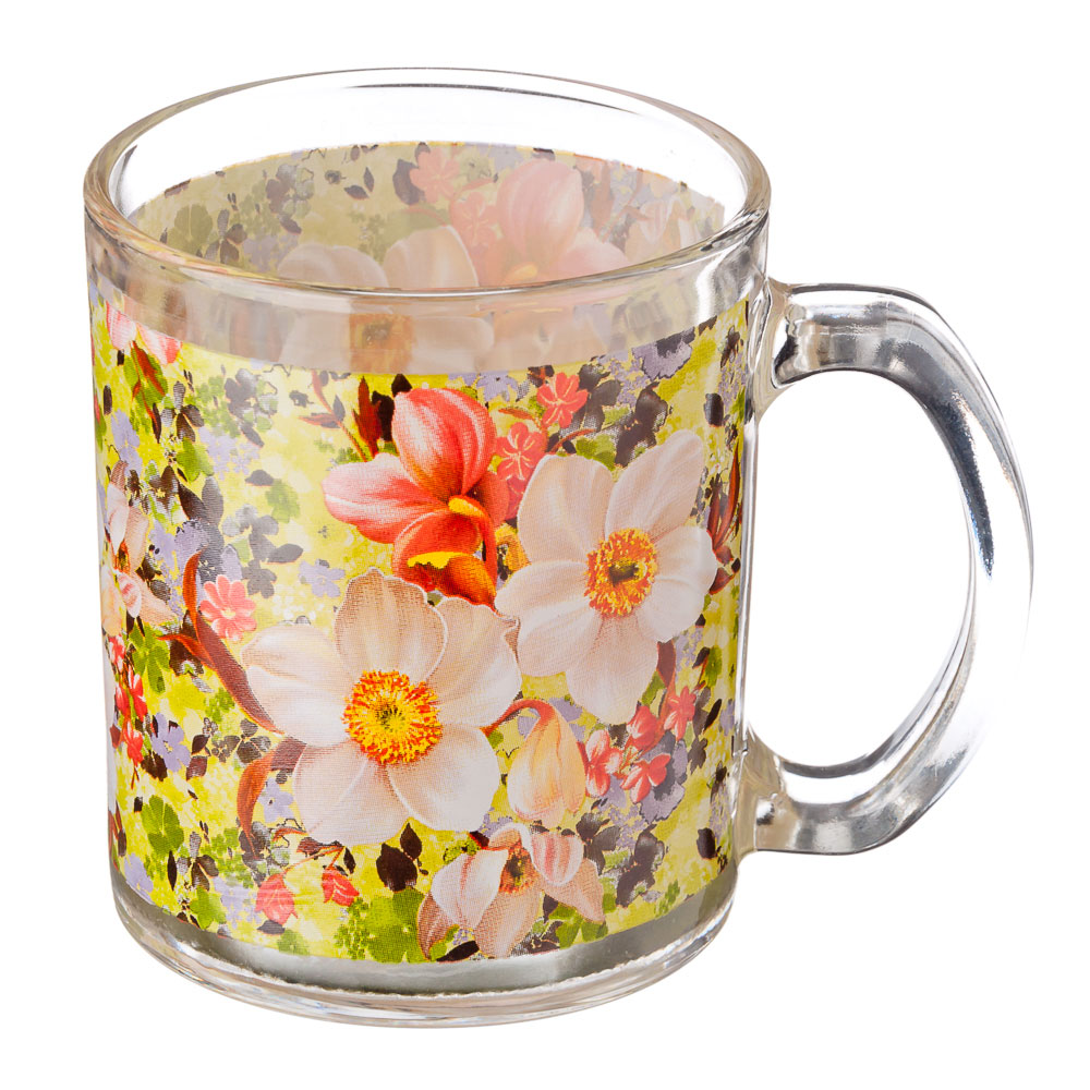 VETTA Весенний букет Кружка стекло 270мл, S2348-R051