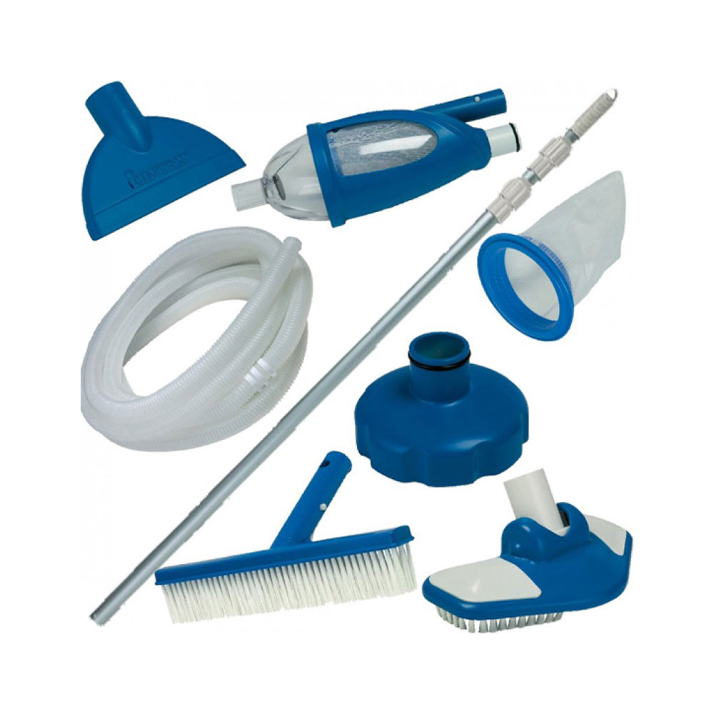 Комплект для чистки бассейна с выдвижной рукояткой, INTEX Delux, 28003