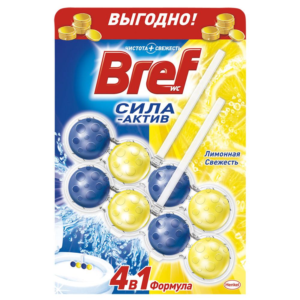Средство для унитаза Бреф Сила Актив Лимонная свежесть 2 x 50г