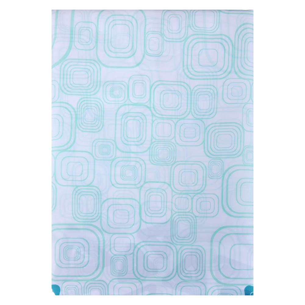 """VETTA Шторка для ванной, ткань полиэстер с утяжелит, 180x180см, """"Уголок голубая"""", Дизайн GC"""