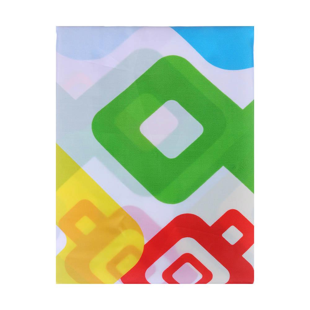 """VETTA Шторка для ванной, ткань полиэстер с утяжелит, 180x180см, """"Разноцветная ромбы"""", Дизайн GC"""
