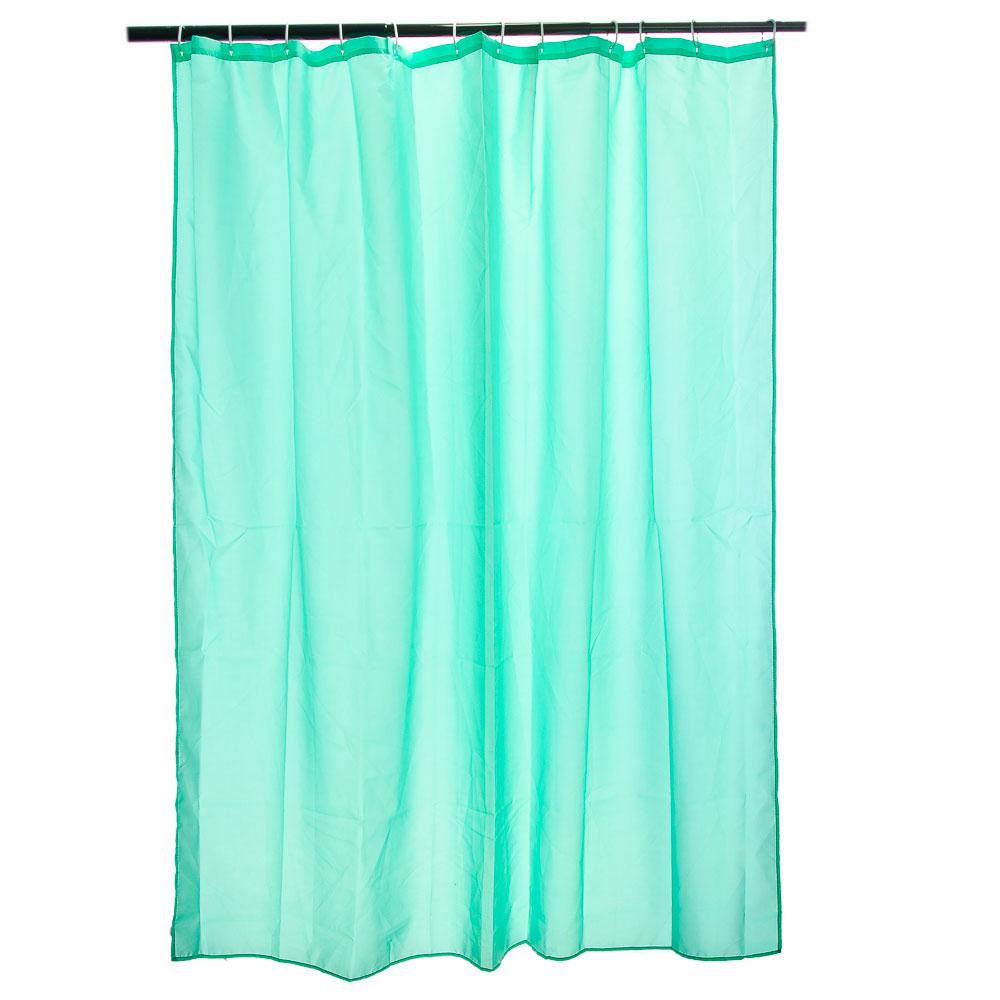 VETTA Шторка для ванной, ткань полиэстер однотонная зелёная 180x180см