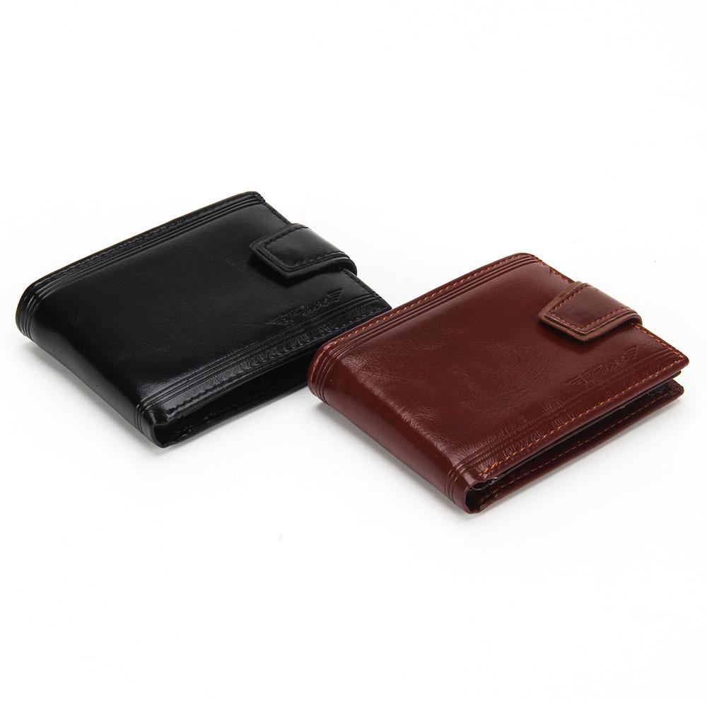 Портмоне мужское из искусственной кожи, цвета черный и коричневый, PAVO