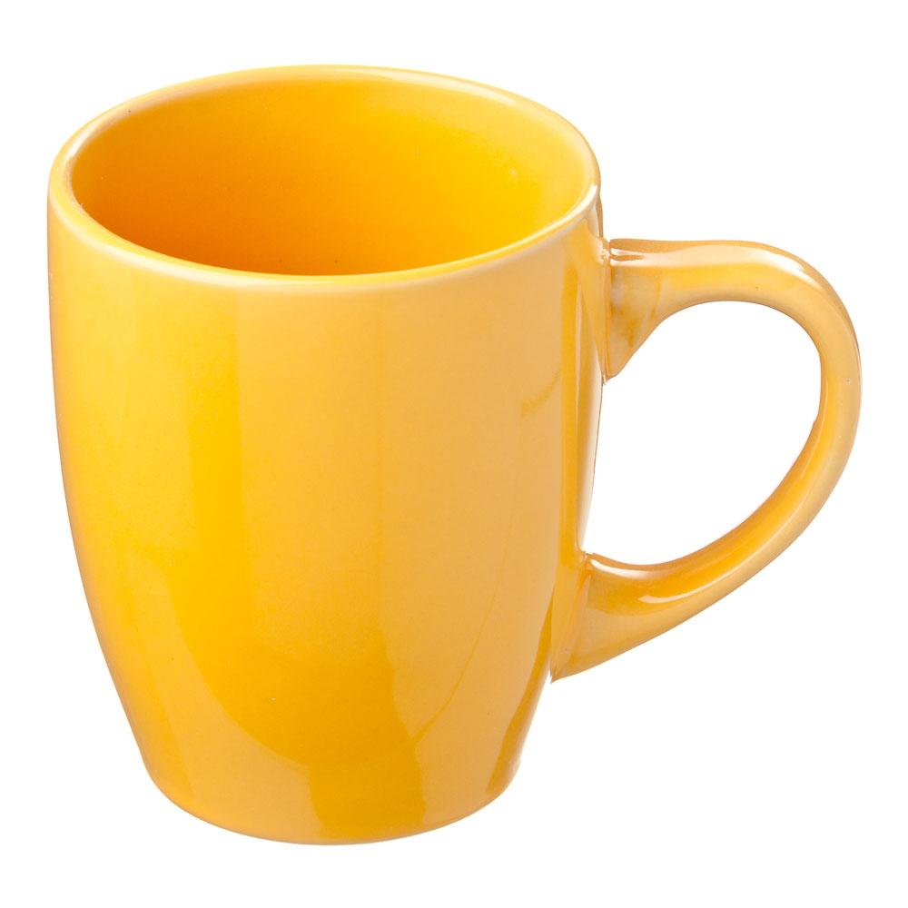 Палитра Кружка, 350мл, керамика, желтый