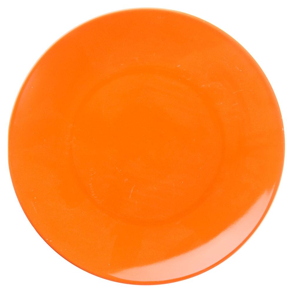 Палитра Тарелка десертная, 20см, керамика, оранжевый