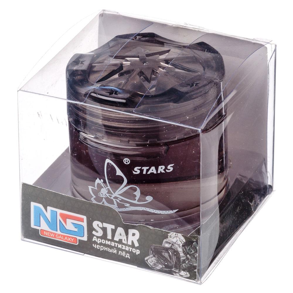 """Ароматизатор в машину гелевый, аромат черный лед, """"Star"""" NEW GALAXY"""