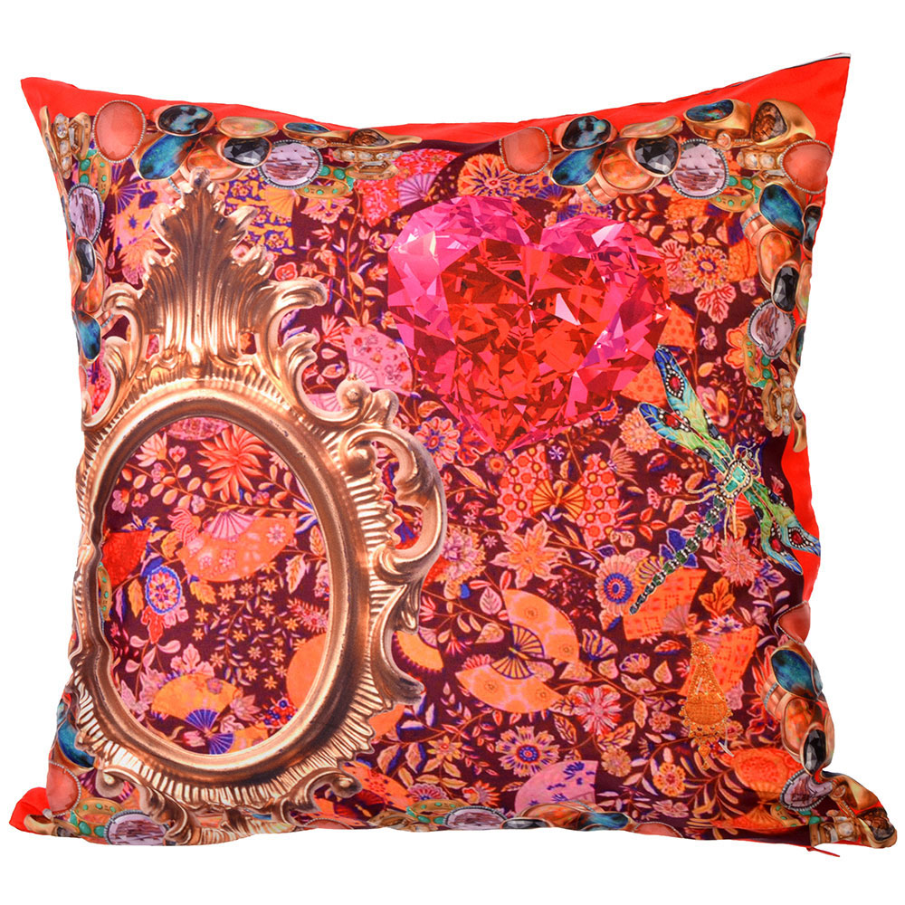 Декоративная наволочка для подушки сатин, 40х40см