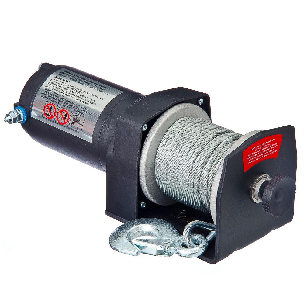 NEW GALAXY Лебедка электрическая 2000lb (907кг), трос 4мм, 15,2м, 12В