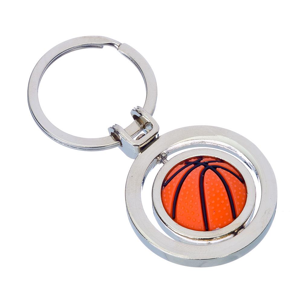 """NEW GALAXY Брелок """"Баскетбольный мяч"""", 3D, металл, 43x37x30мм"""