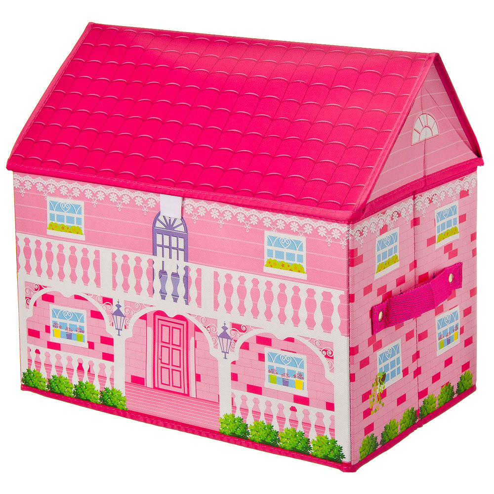 "Кофр-короб складной ""Розовый Дом"" 40х25х37см, нетканый материал"