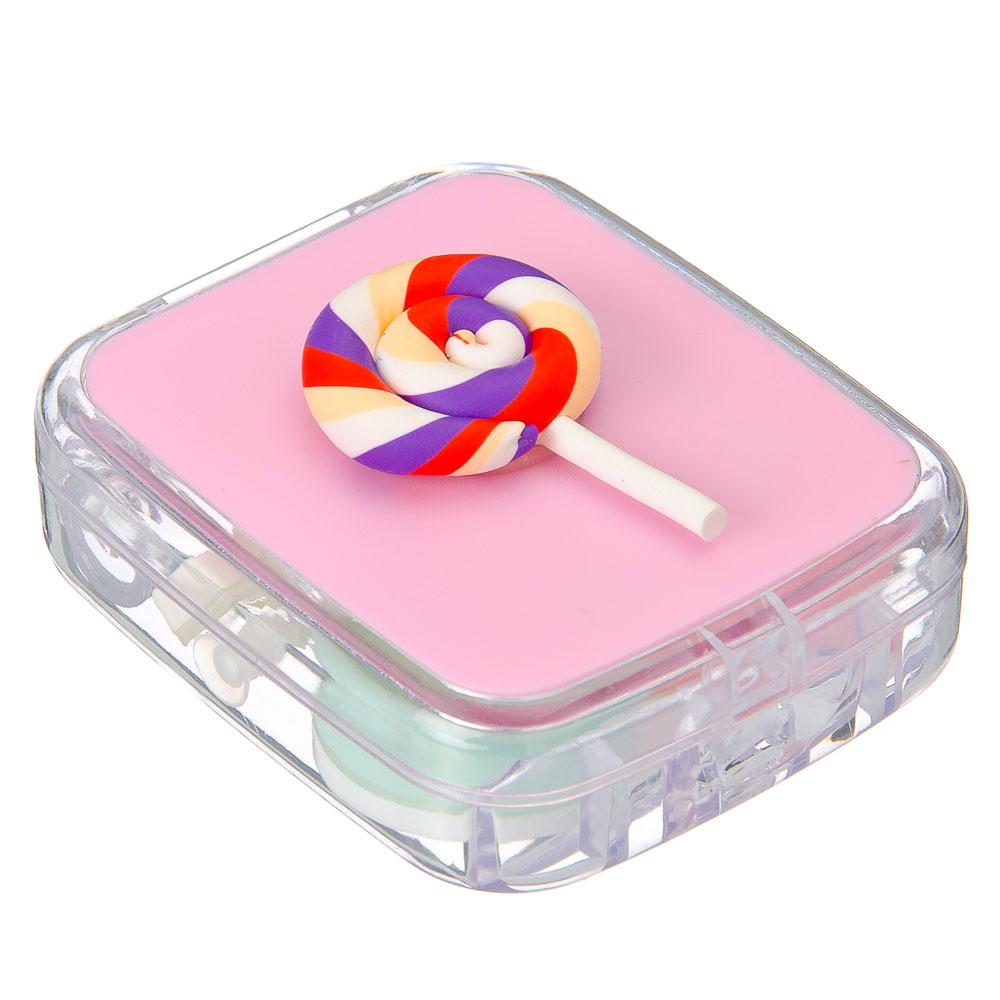 Набор для хранения контактных линз, пластик, стекло, 7,4х6см, 4 цвета