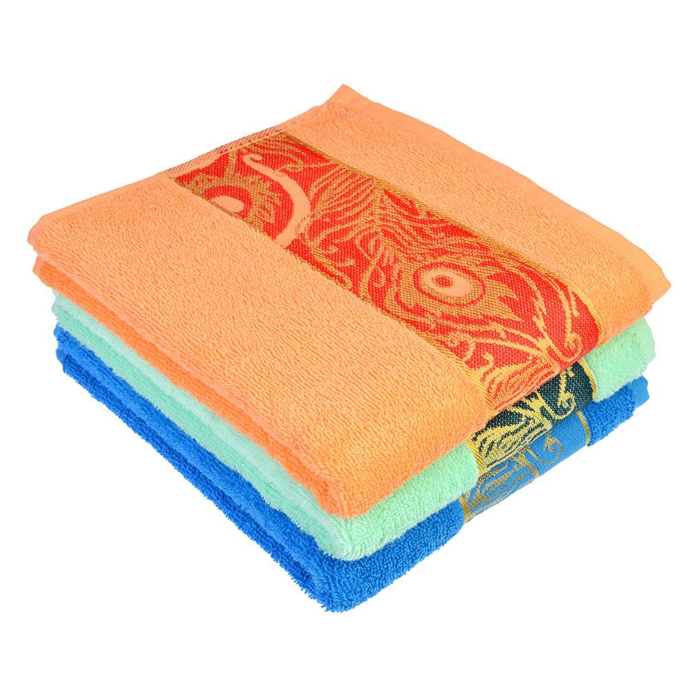 Полотенце для лица махровое, хлопок, 50x80см, 3 цвета