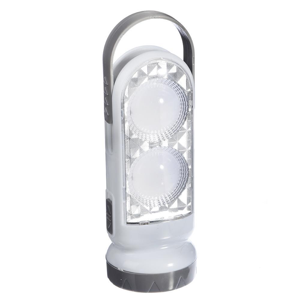 ЧИНГИСХАН Фонарь 2-в-1 2(8)+0,5 Вт LED, 3xAA, пластик, 14,5x5,5 см