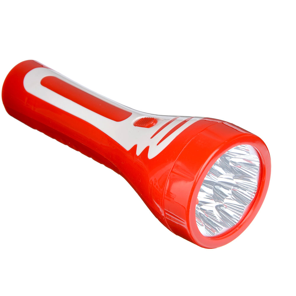 ЧИНГИСХАН Фонарь аккумуляторный 9 ярк. LED, вилка 220В, пластик, 19,5x7 см