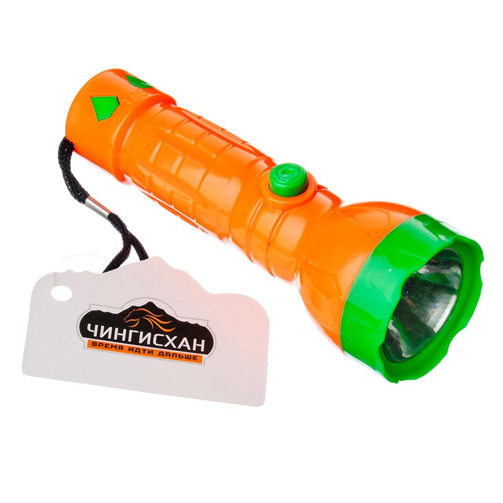 ЧИНГИСХАН Фонарик мини 1 LED, 1xAA, пластик, 12х4 см