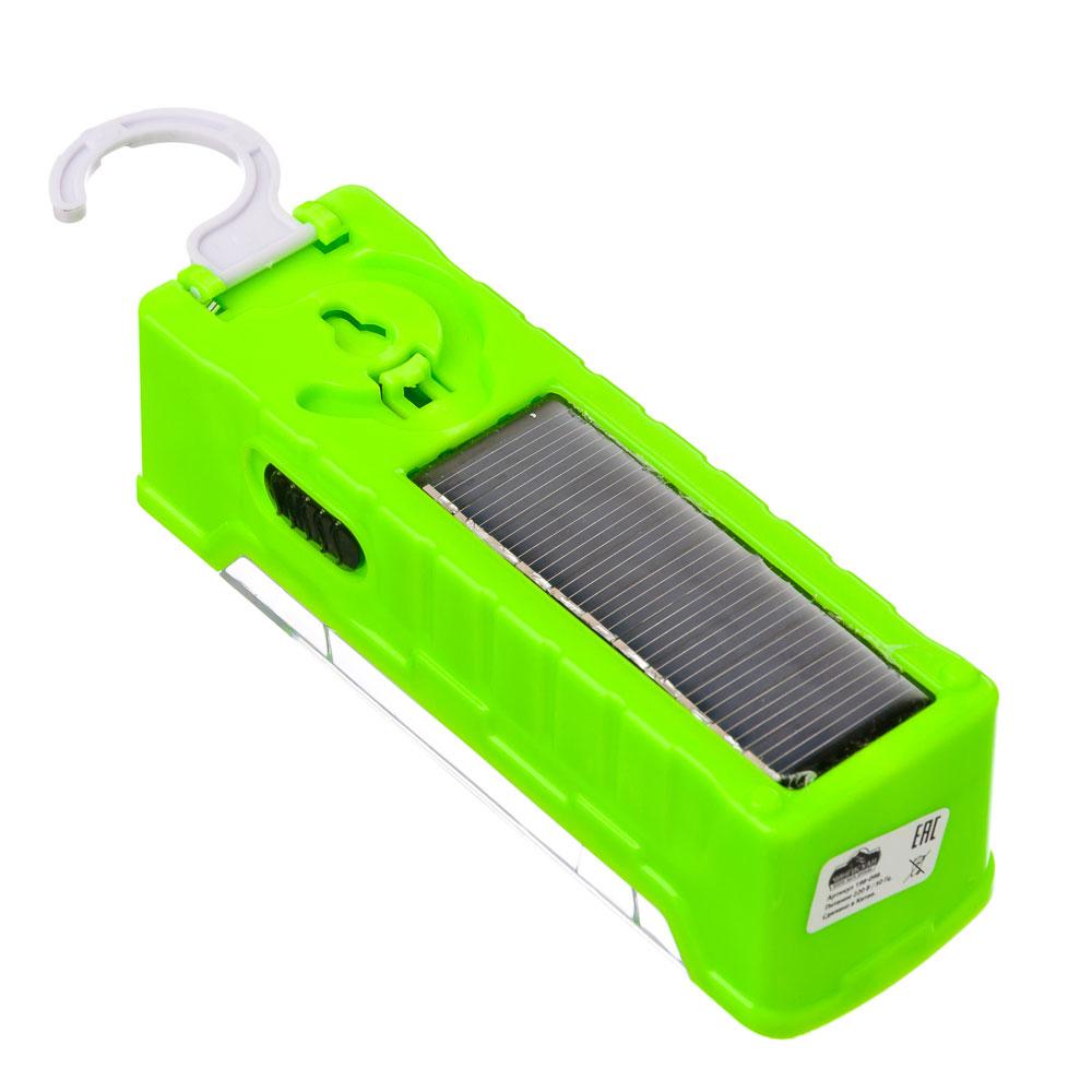 ЧИНГИСХАН Фонарь-светильник 12 SMD + 0,5 Вт LED, адаптер 220В, солнечн. батарея, пластик, 13x4 см