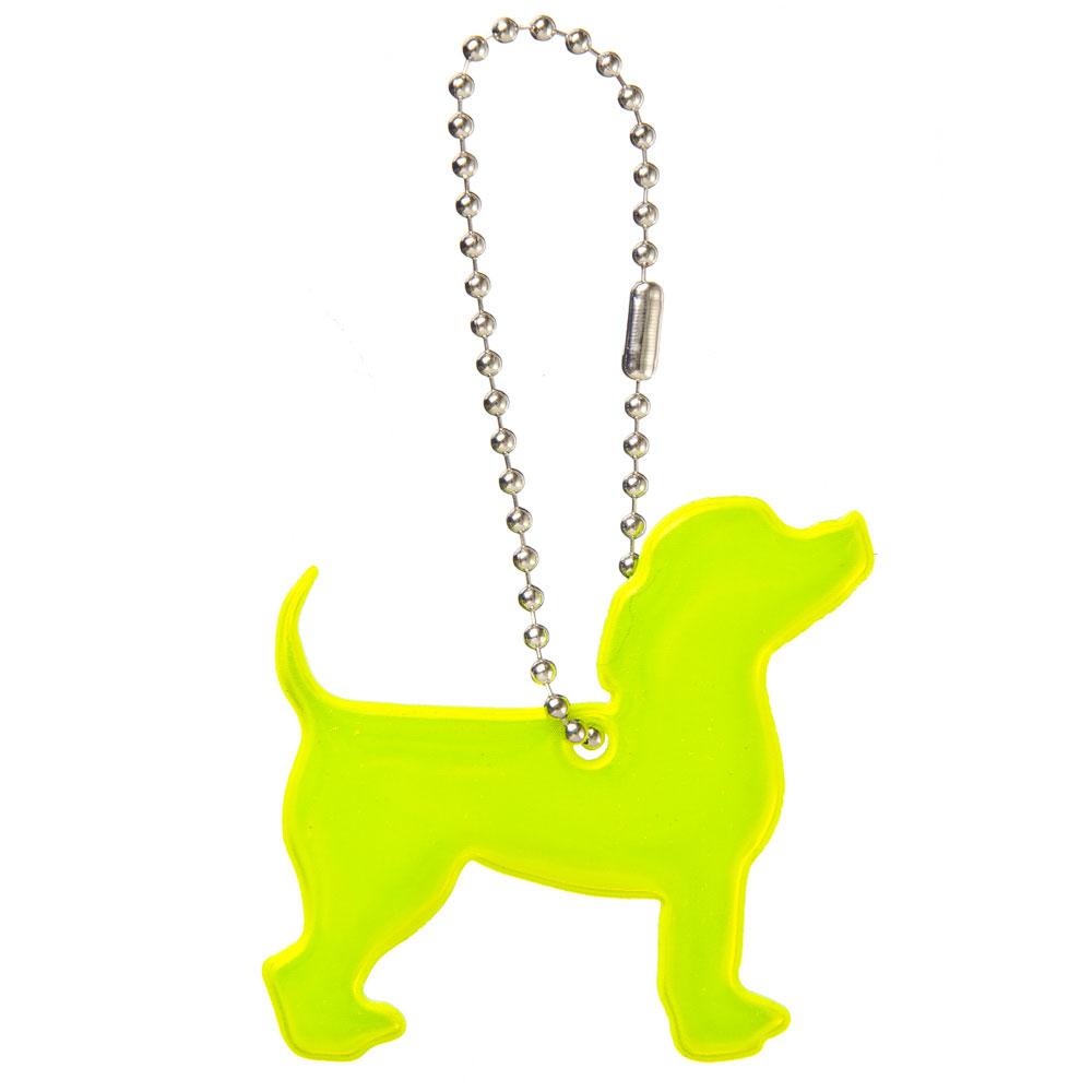 "NEW GALAXY Значок-подвеска светоотражающий ""Пёс"", 4x6см"
