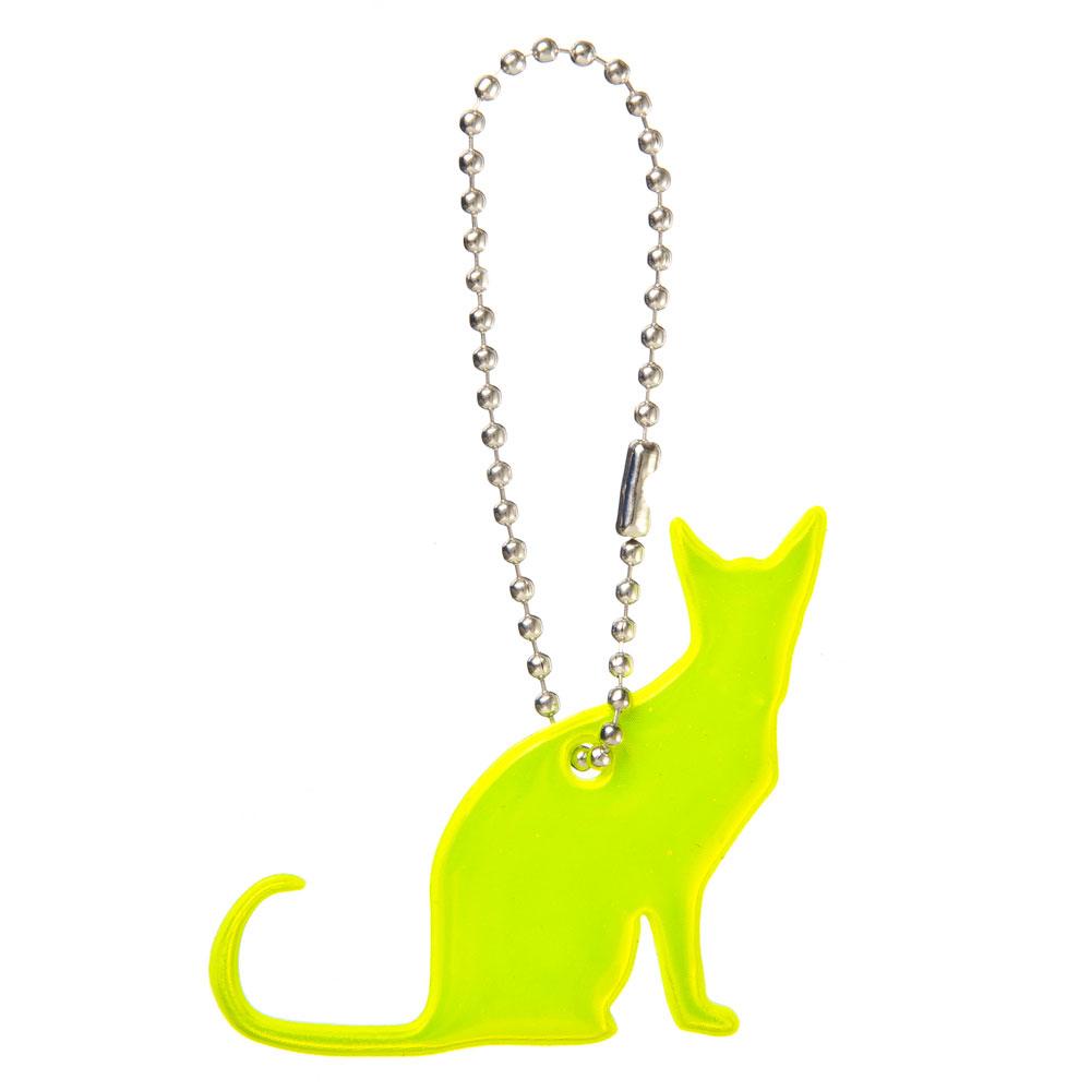 "NEW GALAXY Значок-подвеска светоотражающий ""Кот"", 4x6см"