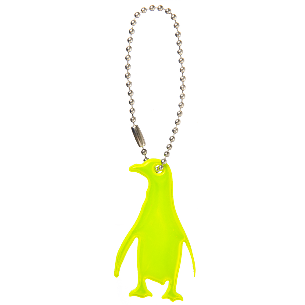 "NEW GALAXY Значок-подвеска светоотражающий ""Пингвин"", 4x6см"