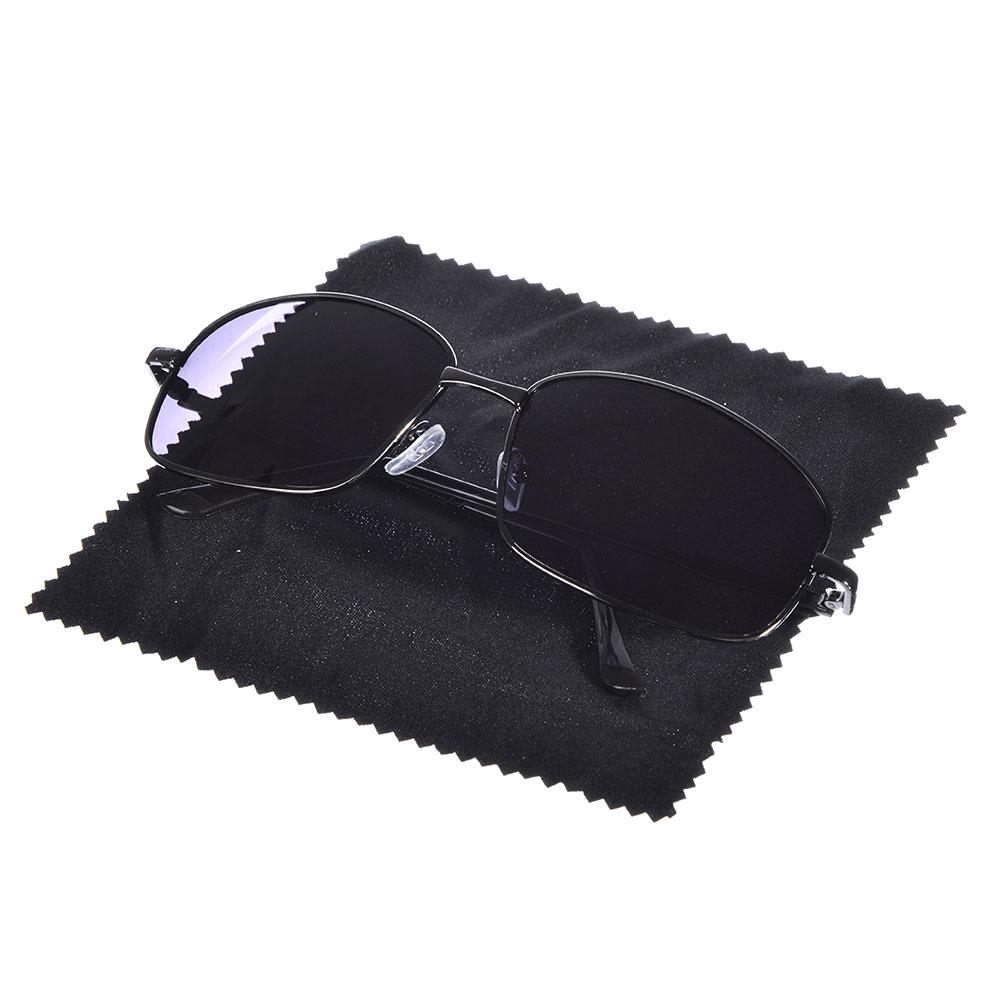 NEW GALAXY Очки поляризационные, солнцезащитные + салфетка, оправа металл, линзы темно-черные Гюрза