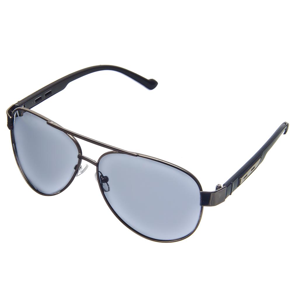 NEW GALAXY Очки поляризационные, солнцезащитные + салфетка, оправа металл, линзы черные Мамба