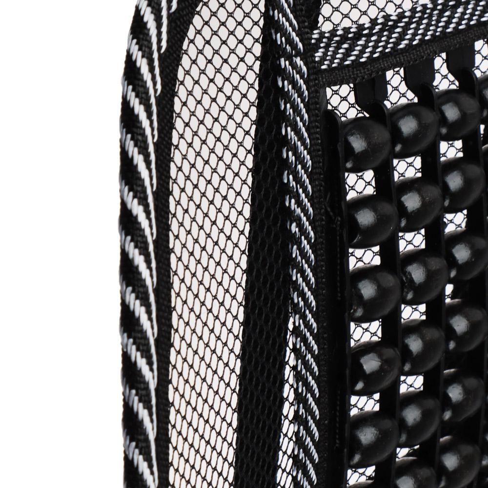NEW GALAXY Подушка массажная для поддержки спины и поясницы, с деревянными вставками, черная