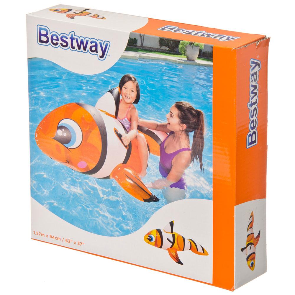 Игрушка-наездник надувная BESTWAY 41088 Рыба-клоун 157х94 см от 3 лет