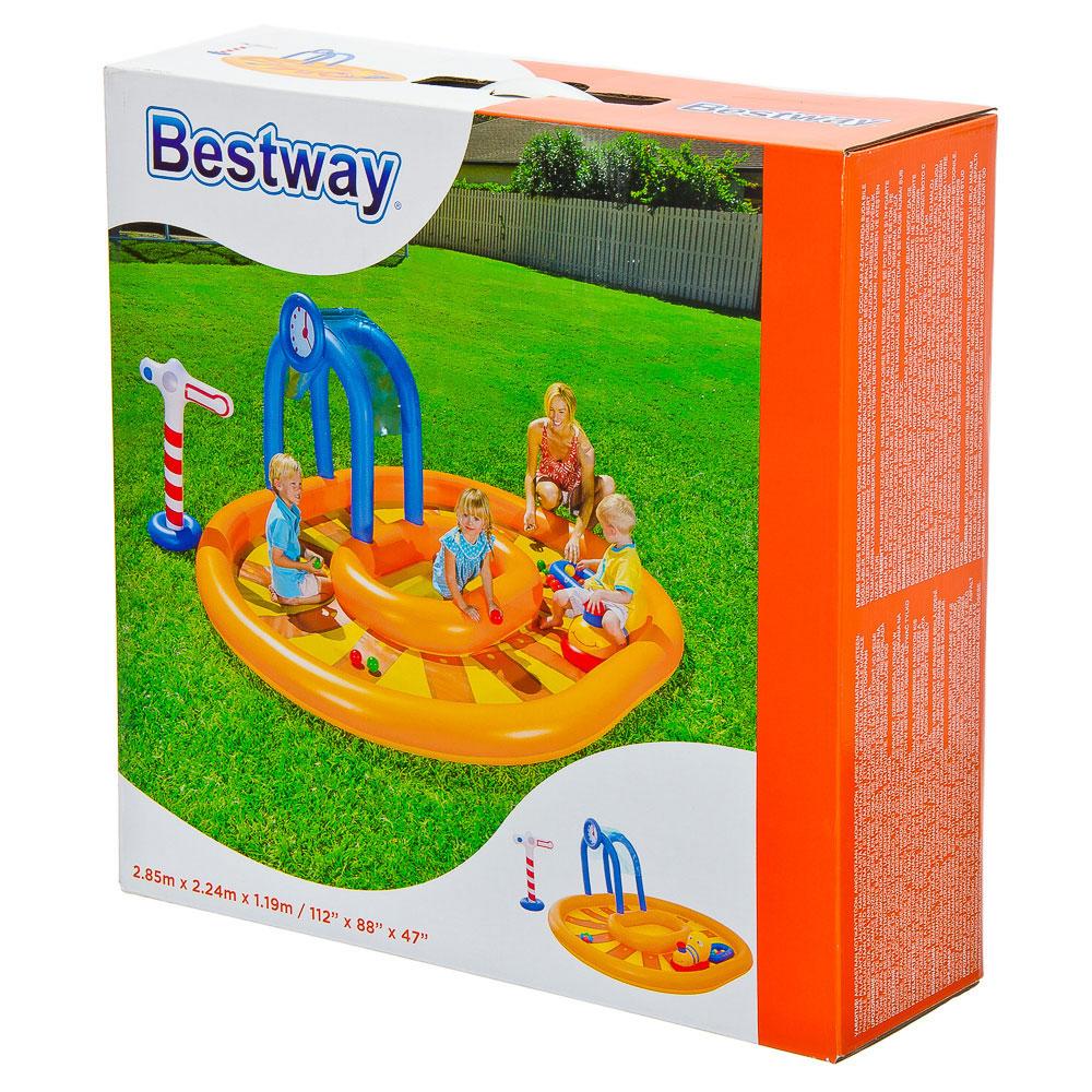BESTWAY Бассейн игровой с брызгалкой и принадл. для игр, ПВХ, 285х224х119см, 367л, от 2 лет, 53061