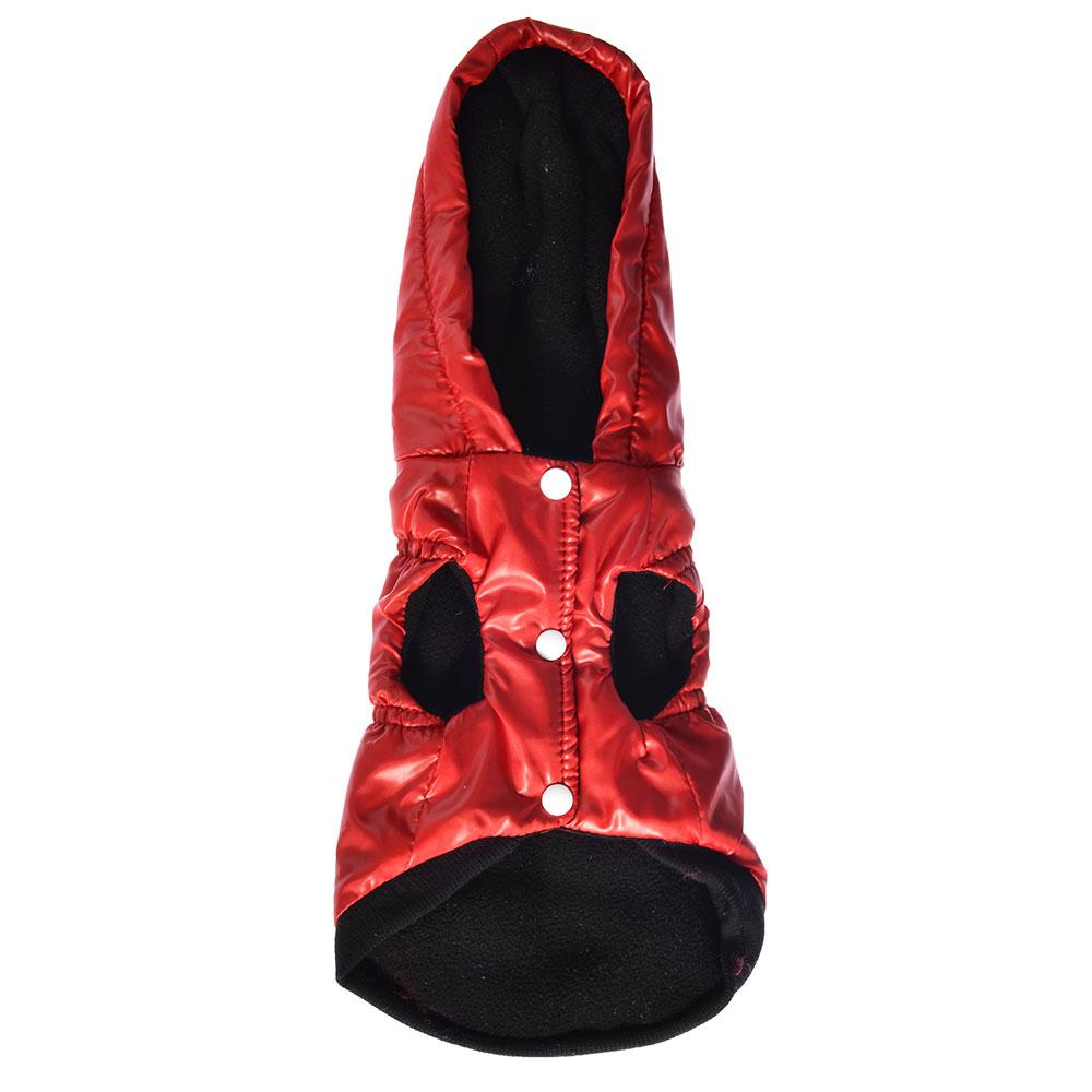 Куртка для животных с капюшоном, полиэстер, длина по спинке 25, 30, 35см, 2 цвета