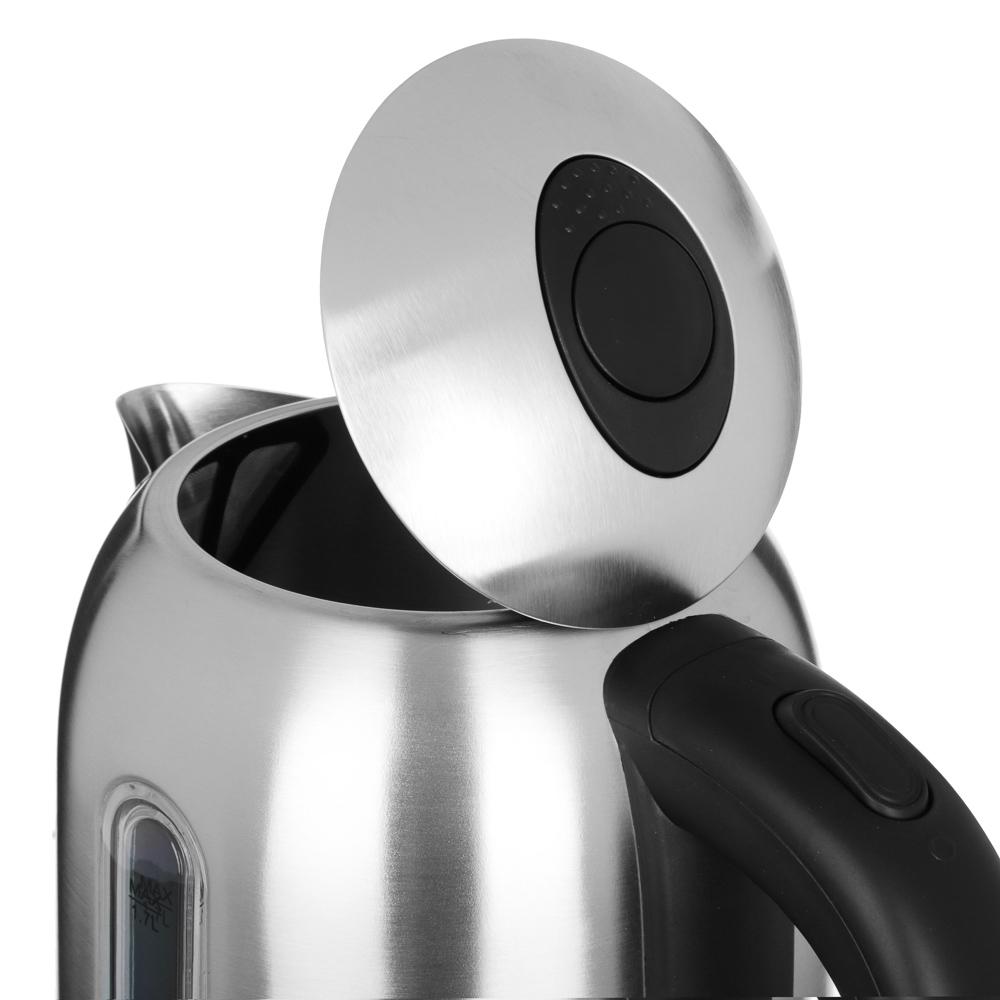 LEBEN Чайник электрический 1,7л, 1850Вт, скрытый нагр.элемент, нерж сталь кремовый