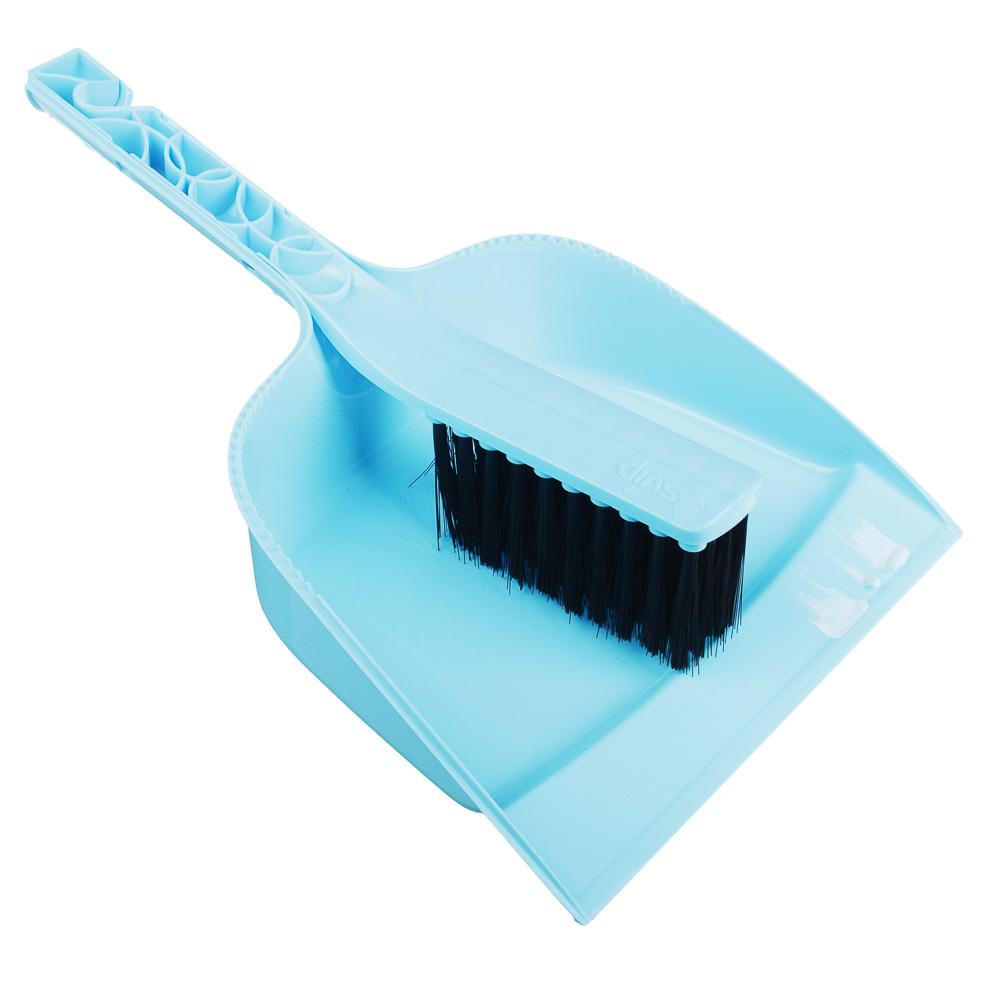 """Набор для уборки: совок, щетка, пластик, 29х19,5х6 см, 2 цвета, VETTA """"Практик"""""""
